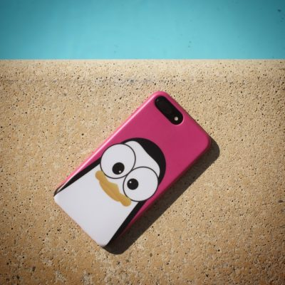 Crazy Pinguins Case iPhone Pink